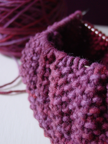 seed stitch knitting photo